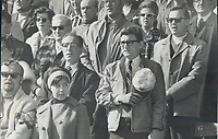 1970 FILE PHOTO - ARCHIVES -<br /> <br /> A Minute's silence is observed at yesterday's football game at CNE Stadium for Pierre Laporte; Quebec labor minister; who was slain Saturday by terrorists. <br /> <br /> PHOTO : Reg INNELL - Toronto Star Archives - AQP