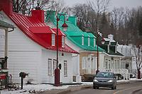 Amérique/Amérique du Nord/Canada/Québec/ Env de Québec/Île d'Orléans/Saint-Jean-de-l'Île-d'Orléans: Maisons traditionnelle en  bois