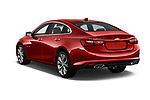Car pictures of rear three quarter view of a 2018 Chevrolet Malibu Premier 4 Door Sedan angular rear