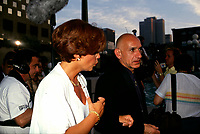 Liza Frulla, Quebec Minister of Cultural Affairs (L) and President of the Jury, actor Ben Kingsley (R) attend the opening of the World Film Festival at the end of August 1993 (exact date unknown) at place-des-arts.<br /> <br /> <br />  Ben Kingsley has signed on to a TV series that will profile King Tutankhamun and be partially filmed in Canada, this fall 2014 <br /> <br /> File Photo : Agence Quebec Presse - Pierre Roussel