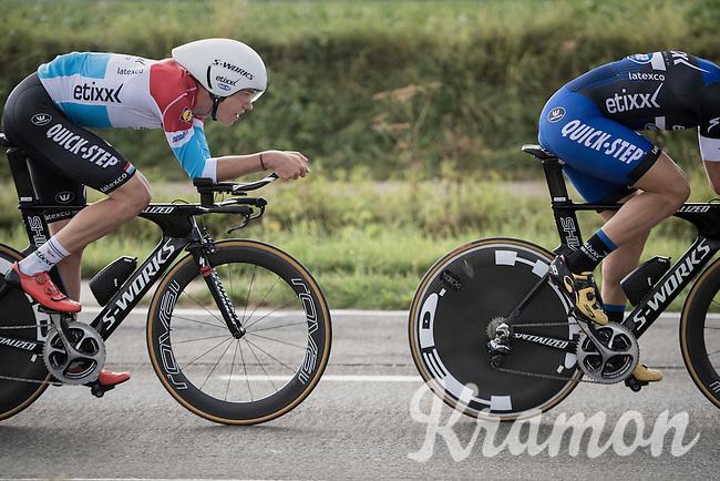 Bob Jungels (LUX/Etixx-QuickStep) during TTT recon<br /> <br /> 12th Eneco Tour 2016 (UCI World Tour)<br /> stage 5 (TTT) Sittard-Sittard (20.9km) / The Netherlands