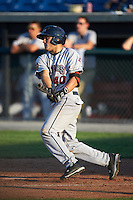 Mahoning Valley Scrappers  at bat during a game against the Auburn Doubledays on June 19, 2016 at Falcon Park in Auburn, New York.  Mahoning Valley defeated Auburn 14-3.  (Mike Janes/Four Seam Images)
