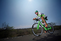 Bart Aernouts training on the Queen K.<br /> <br /> Iron Man World Championships 2012. Kona, Hawaii