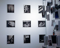 """""""Living a Dream"""" exhibition in Tokyo comprising nine prints and an installation. Over 200 small size photographs were used for the installation."""