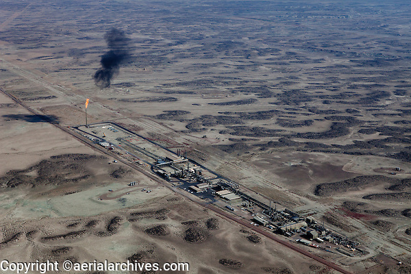 aerial photograph natural gas production southern Wyoming