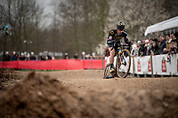 Lars van der Haar (NED/Telenet Baloise Lions) over the dirt pump track<br /> <br /> Elite + U23 Men's Race<br /> CX GP Leuven (BEL) 2020<br />  <br /> ©kramon