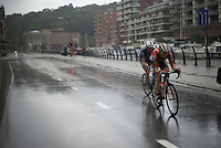 race leaders Dimitri Claeys (BEL/Wanty-Groupe Gobert) & Pim Ligthart (NLD/Lotto-Soudal) in the last lap<br /> <br /> 50th GP Jef Scherens 2016
