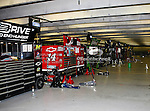 The Nascar Sprint Cup Series garage sits empty during the Samsung Mobile 500 Sprint Cup race at Texas Motor Speedway in Fort Worth,Texas.