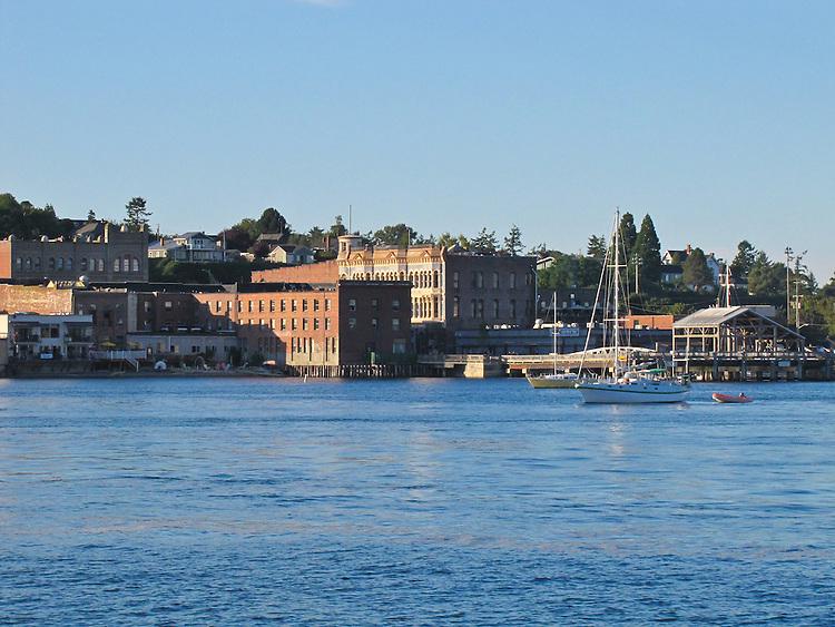 Port Townsend, waterfront, Water Street, Victorian architecture, National Historic Landmark, Puget Sound, Washington State, Pacific Northwest, USA,