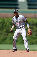 Infielder Milton Ramos (26) of Florida Christian High School in Hialeah Gardens, Florida during the Under Armour All-American Game on August 24, 2013 at Wrigley Field in Chicago, Illinois.  (Mike Janes/Four Seam Images)