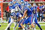 Southern Methodist Mustangs running back Braeden West (6) in action during the game between the TCU Horned Frogs and the SMU Mustangs at the Gerald J. Ford Stadium in Dallas, Texas.