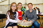Enjoying making noise with the drums at the Féile-Family Camps in Pearse Park in Tralee on Sunday, l to r: Grace, Conor and Aidan Griffin from Cahermoneen.