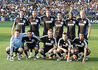 30 May 2009: Earthquakes Starting XI pose together for group photos before the game against Real Salt Lake at Buck Shaw Stadium in Santa Clara, California.   Earthquakes defeated Real Salt Lake, 2-1.
