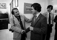 FILE PHOTO -  Jean-Francois Bertrand (D) et Le Photographe Antoine Desilet circa 1980<br /> <br /> <br /> PHOTO :  Andre Boucher - Agence quebec Presse<br /> <br /> HI RES Sur demande - aucune restriction