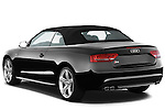 Rear three quarter view of a 2010 - 2011 Audi S5 Cabriolet