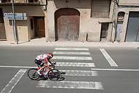 Carl Fredrik Hagen (NOR/Lotto-Soudal) in the breakaway group<br /> <br /> Stage 8: Valls to Igualada (167km)<br /> La Vuelta 2019<br /> <br /> ©kramon