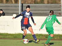 20131211 - HENIN-BEAUMONT , France :  PSG's Linda Bresonik pictured during the female soccer match between FC Henin Beaumont and Paris Saint-Germain Feminin , of the Ninth matchday in the French First Female Division . Wednesday 11 December 2013. PHOTO DAVID CATRY