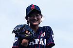 #11 Matsushima Runa poses for photos during the BFA Women's Baseball Asian Cup match between Pakistan and Japan at Sai Tso Wan Recreation Ground on September 4, 2017 in Hong Kong. Photo by Marcio Rodrigo Machado / Power Sport Images