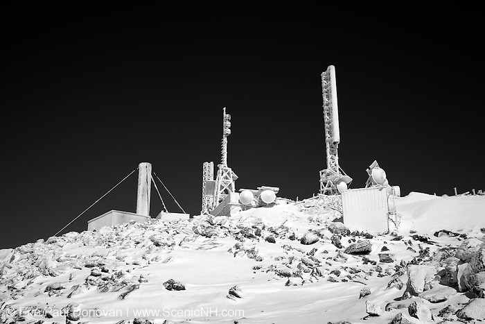Appalachian Trail - The summit of Mount Washington during the winter months in the White Mountains, New Hampshire USA.