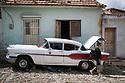 27/07/18<br /> <br /> A man works underneath old American Pontiac. Trinidad, Cuba.<br /> <br /> All Rights Reserved, F Stop Press Ltd. (0)1335 344240 +44 (0)7765 242650  www.fstoppress.com rod@fstoppress.com