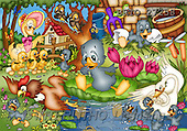 Alfredo, CUTE ANIMALS, puzzle, paintings(BRTO27258,#AC#) illustrations, pinturas, rompe cabeza