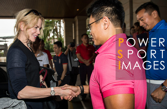 Nicole Kidman arrives at the Mission Hills Celebrity Pro-Am on 23 October 2014, in Haikou, China. Photo by Aitor Alcalde / Power Sport Images