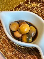 Yangzhou, Jiangsu, China.  Century Quail Eggs.