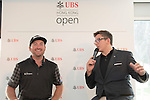 Graeme McDowell of Northern Ireland answers questions and signs autographs for fans in UBS pavilion during Hong Kong Open golf tournament at the Fanling golf course on 23 October 2015 in Hong Kong, China. Photo by Moses Ng / Power Sport Images