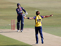 Zak Crawley of Kent is bowled by Jack Plom during Kent Spitfires vs Essex Eagles, Vitality Blast T20 Cricket at The Spitfire Ground on 18th September 2020