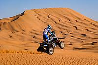 4th January 2021; Dakar Rally stage 2;  154 Andujar Manuel (arg), Yamaha, 7240 Team, Quad, action during the 2nd stage of the Dakar 2021 between Bisha and Wadi Al Dawasir, in Saudi Arabia on January 4, 2021