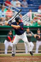 Lowell Spinners first baseman Devlin Granberg (35) at bat during game against the Batavia Muckdogs on July 14, 2018 at Dwyer Stadium in Batavia, New York.  Lowell defeated Batavia 8-4.  (Mike Janes/Four Seam Images)