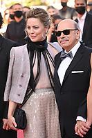 CANNES, FRANCE. July 10, 2021: Melissa George & Gabriel Sera at the premiere of Peaceful (De Son Vivant) at the 74th Festival de Cannes.<br /> Picture: Paul Smith / Featureflash
