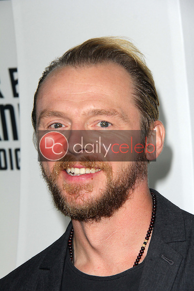 """Simon Pegg<br /> at the """"Star Trek Into Darkness"""" Blu-Ray and DVD Release Party, California Science Center, Los Angeles, CA 09-10-13<br /> David Edwards/Dailyceleb.com 818-249-4998"""