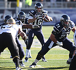 Nevada quarterback Tyler Lantrip threw for 340 yards and four touchdowns against Idaho in an NCAA football game in Reno, Nev., on Saturday, Dec. 3, 2011. Nevada won 56-3. .Photo by Cathleen Allison