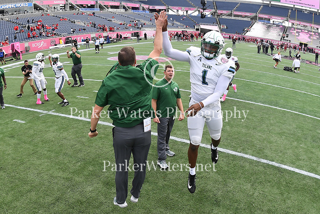 Tulane downs UL-Lafayette, 41-24, in the AutoNation Cure Bowl, played at Camping World Stadium on December 15, 2018 in Orlando, Florida.