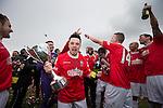 © Joel Goodman - 07973 332324 . 25/04/2015 . Salford , UK . Post match celebrations . Evostick League champions , Salford FC , play Osset Town , in Salford . Photo credit : Joel Goodman