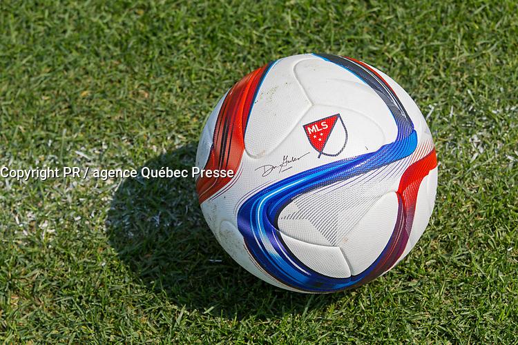 Canada, Québec, Montréal, balloon de soccer de l'Impact de Montréal en 2015 // Canada, Quebec City, Montreal, Montreal Impact soccer balloon in 2015<br /> PHOTO :  Agence Quebec presse