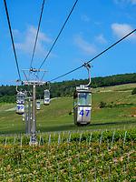 Seilbahn zum Niederwalddenkmal bei Rüdesheim, Hessen, Deutschland, Europa<br /> cablecar to Niederwald monument near Rüdesheim, Hesse, Germany, Europe