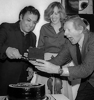 Zubin Mehta Danny Kaye 1978<br /> Photo by Adam Scull/PHOTOlink