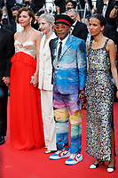 """CANNES, FRANCE - JULY 17: Maggie Gyllenhaal, Jessica Hausner, Jury president and Director Spike Lee, Mati Diop at the final screening of """"OSS 117: From Africa With Love"""" and closing ceremony during the 74th annual Cannes Film Festival on July 17, 2021 in Cannes, France. <br /> CAP/GOL<br /> ©GOL/Capital Pictures"""