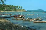 SHORELINE AND BOATS AT SEA GYPSY VILLAGE AT RAWAI BEACH THAILAND