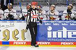 Schiedsrichter Patrick Laguzov beim Spiel des MAGENTA SPORT CUP 2020, Adler Mannheim (blau) - EHC Red Bull Muenchen (weiss).<br /> <br /> Foto © PIX-Sportfotos *** Foto ist honorarpflichtig! *** Auf Anfrage in hoeherer Qualitaet/Aufloesung. Belegexemplar erbeten. Veroeffentlichung ausschliesslich fuer journalistisch-publizistische Zwecke. For editorial use only.