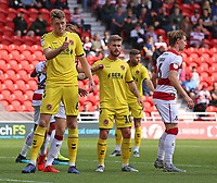 Fleetwood Town's Harry Souttar in action<br /> <br /> Photographer David Shipman/CameraSport<br /> <br /> The EFL Sky Bet League One - Doncaster Rovers v Fleetwood Town - Saturday 17th August 2019  - Keepmoat Stadium - Doncaster<br /> <br /> World Copyright © 2019 CameraSport. All rights reserved. 43 Linden Ave. Countesthorpe. Leicester. England. LE8 5PG - Tel: +44 (0) 116 277 4147 - admin@camerasport.com - www.camerasport.com