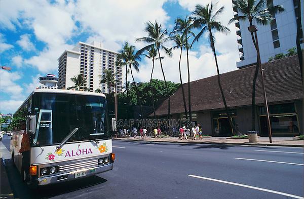 Honolulu skyline, Hawaii, USA, August 1996