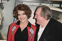 Fanny ARDANT - Gerard DEPARDIEU - Avant premiere du film ' Le Divan de Staline ' le 10 janvier 2017 - Paris - France