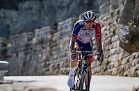 Matthieu Ladagnou (FRA/Groupama-FDJ) down the Col de Turini<br /> <br /> Stage 2 from Nice to Nice (186km)<br /> <br /> 107th Tour de France 2020 (2.UWT)<br /> (the 'postponed edition' held in september)<br /> <br /> ©kramon