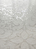 Marabel, a hand cut natural stone mosaic, is shown in honed Thassos and polished Afyon White.