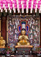 Buddha-Statue, buddhistischer Tempel Heinsa nahe Daegu, Provinz Gyeongsangnam-do, Südkorea, Asien, UNESCO Weltkulturerbe<br /> Buddha Statue,  buddhist temple heinsa near Daegu,  province Gyeongsangbuk-do, South Korea, Asia, UNESCO world-heritage
