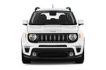 Car photography straight front view of a 2021 JEEP Renegade Latitude 5 Door SUV Front View