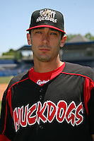June 16, 2009:  Matt Carpenter of the Batavia Muckdogs poses for a head shot before the teams practice at Dwyer Stadium in Batavia, NY.  The Batavia Muckdogs are the NY-Penn League Single-A affiliate of the St. Louis Cardinals.  Photo by:  Mike Janes/Four Seam Images